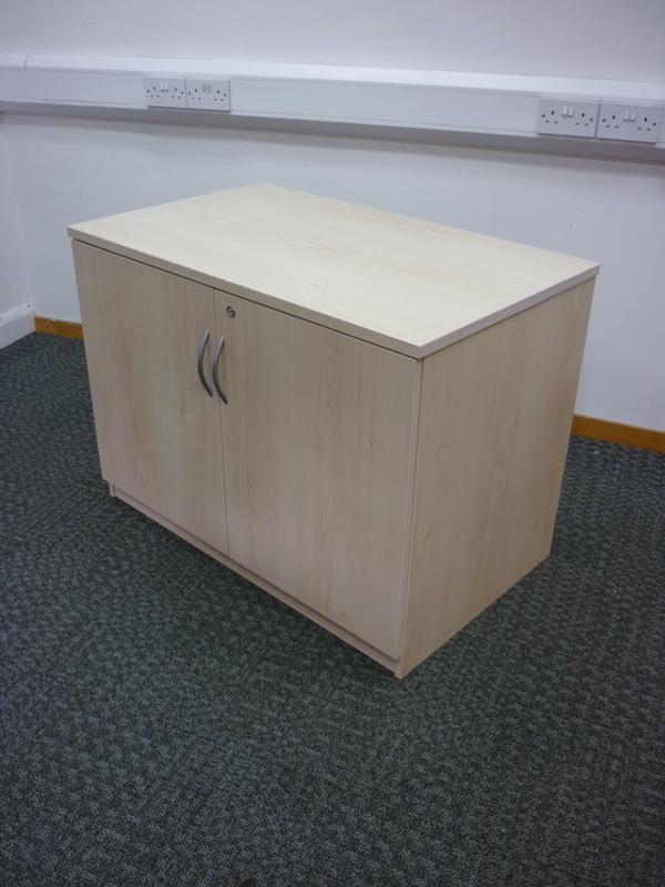 Desk high FFC maple double door cupboards