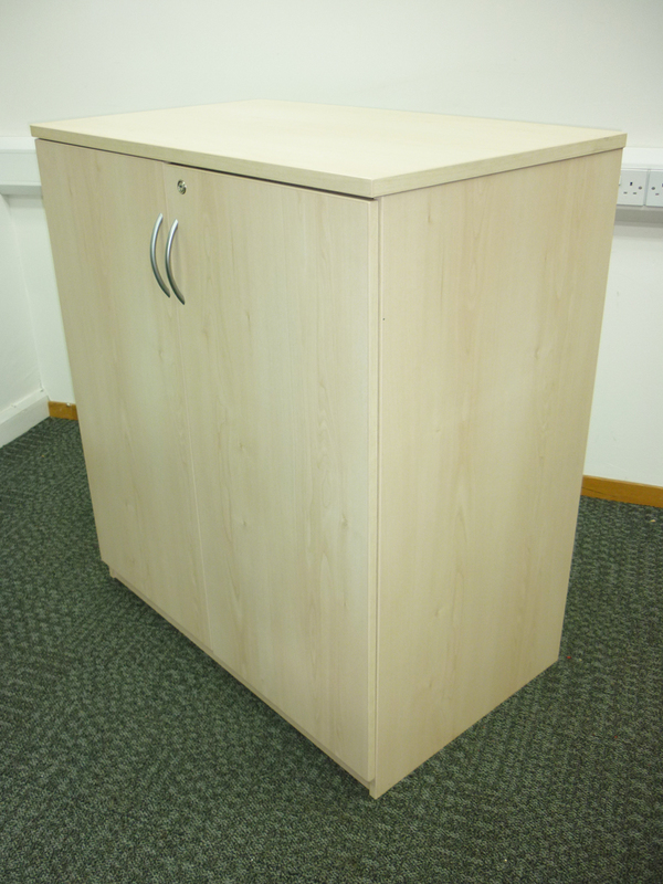 1120mm high FFC maple double door cupboards