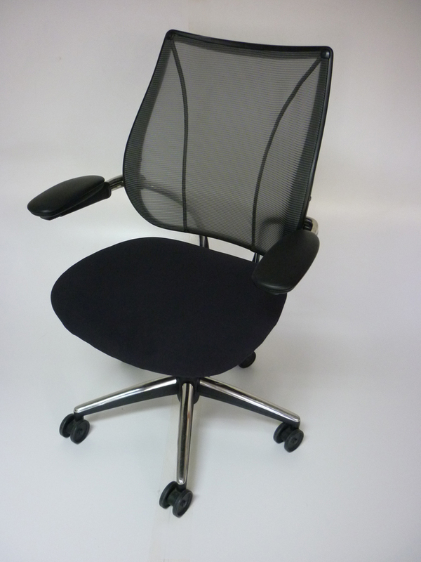 Black mesh Humanscale Liberty task chairs