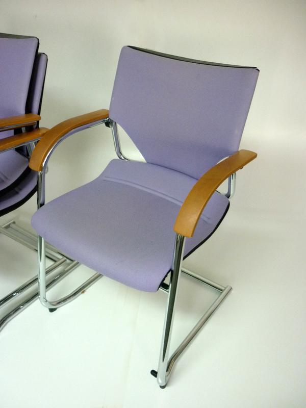 Light purple stacking Wilkhahn meeting chairs