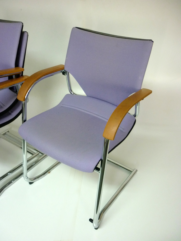 Light purple stacking Wilkhahn meeting chairs