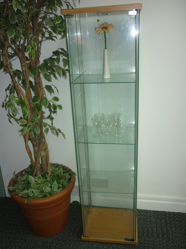 Glass display cabinets