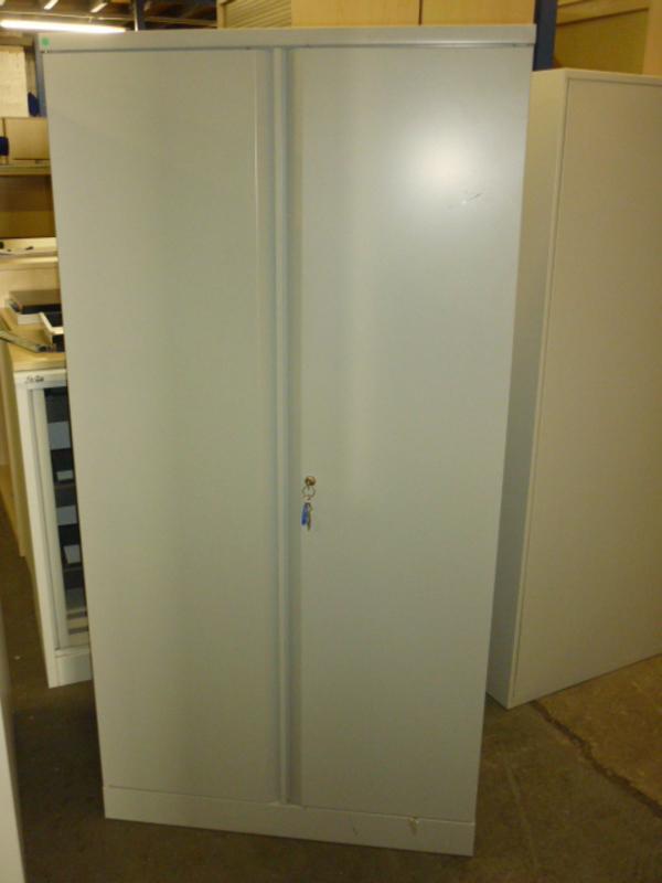 Metal double door cupboard