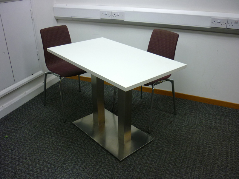 White cafe style table (CE)