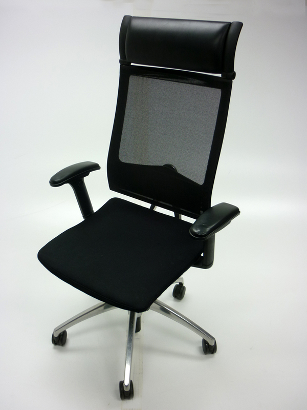 Black fabric mesh back Sedus Open Up task chair