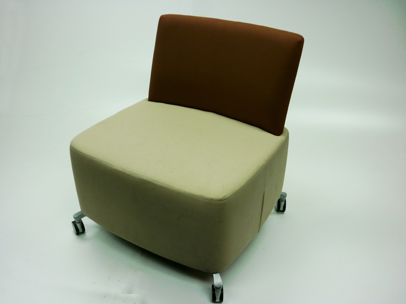 Orangebox brown/beige mobile soft seating (CE)