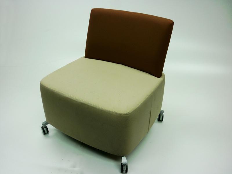 Orangebox brownbeige mobile soft seating