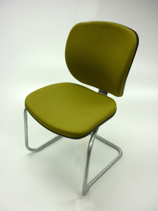 Green Orangebox Joy stackable meeting chairs