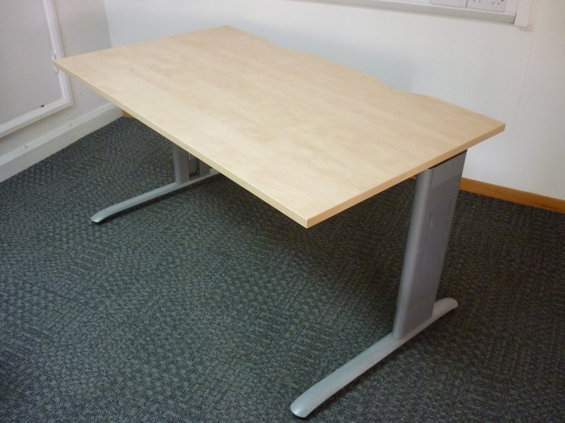 Task frame 1400w x 800d mm desks with new tops CE