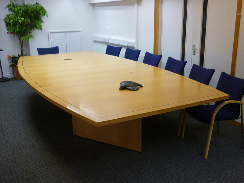 4000x20001500mm beech veneer barrel shape boardroom table
