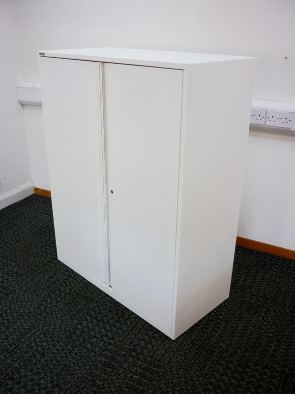 1300mm high white Triumph metal cupboards