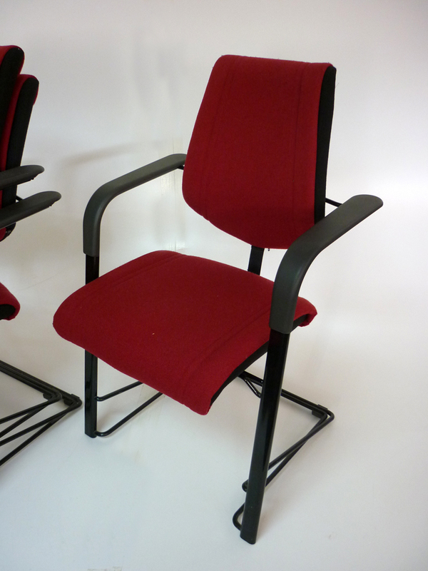Burgundy HAG stackable meeting chairs