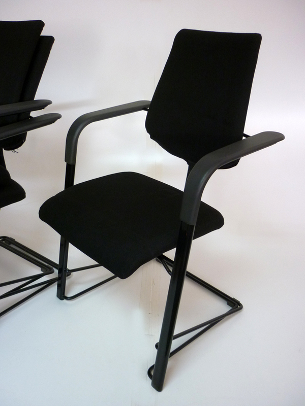 Black HAG stackable meeting chairs
