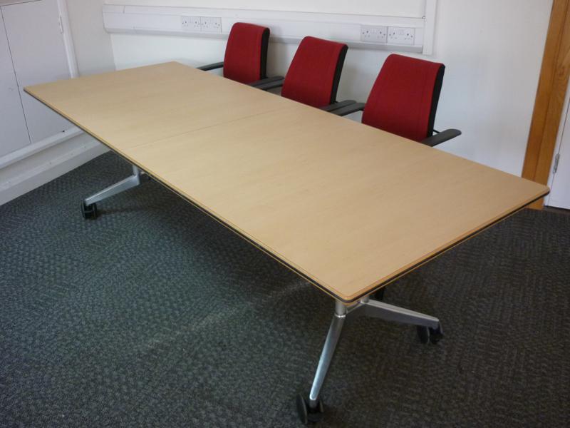 2400mm x 900mm Wilkhahn Confair mobile folding tables