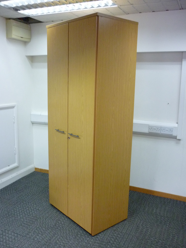 2050h x 800w mm Sven light oak cupboards