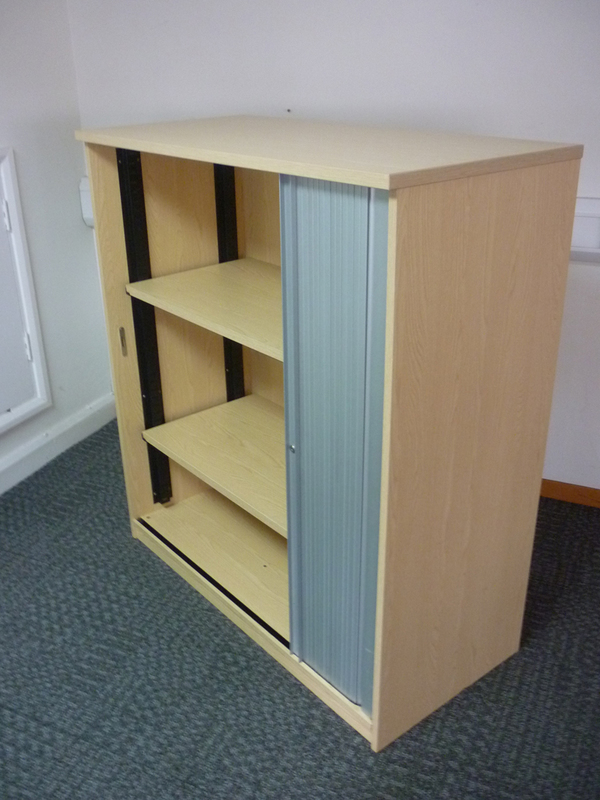 1240mm high ash tambour cupboard