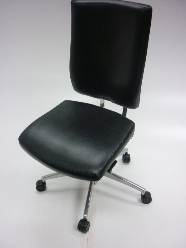 Brown leather Boss Sona task chair