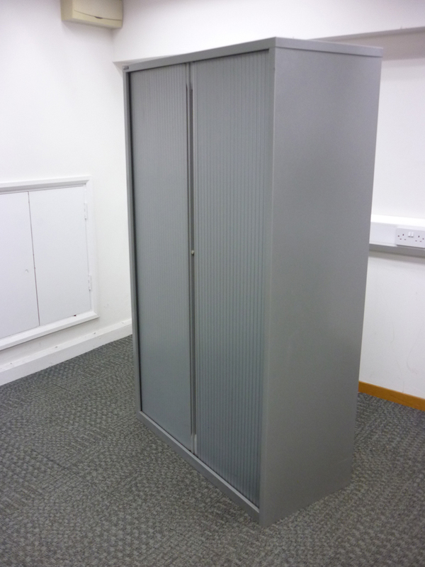 1680mm high silver Triumph tambour cupboard