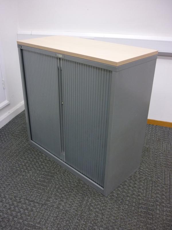 1050mm high silver/maple Triumph tambour cupboard
