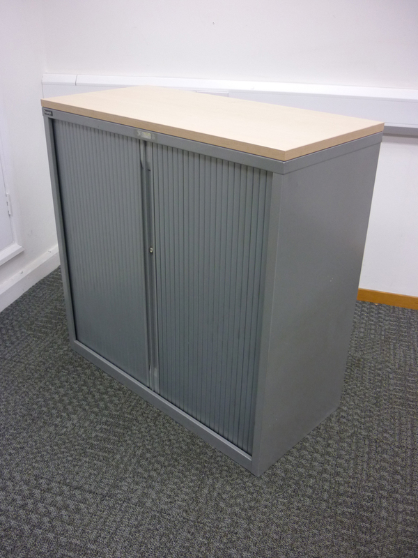 1050mm high silver Triumph tambour cupboard