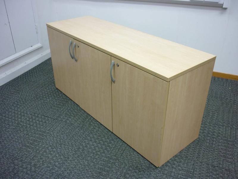 Desk high maple Ofquest credenza