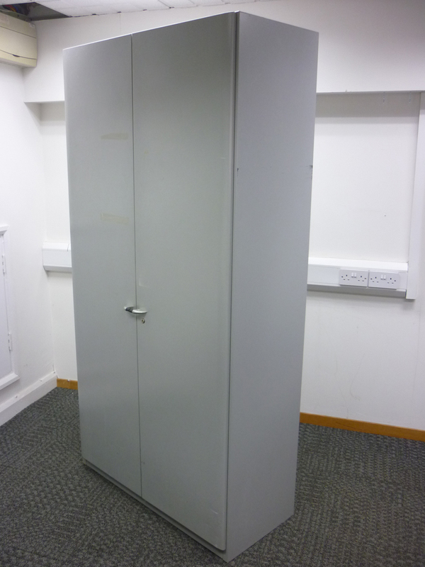 1980mm high Steelcase silver metal cupboards