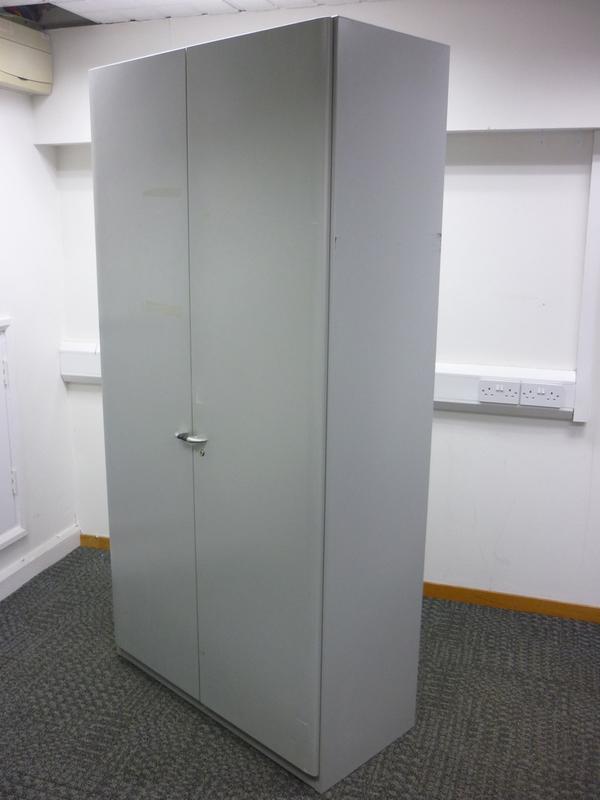 1980mm high Steelcase silver metal cupboards