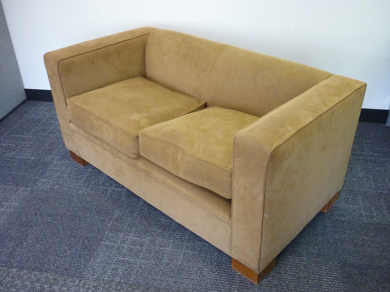 Linley Max 2 seater sofa in Alcantra Taupe