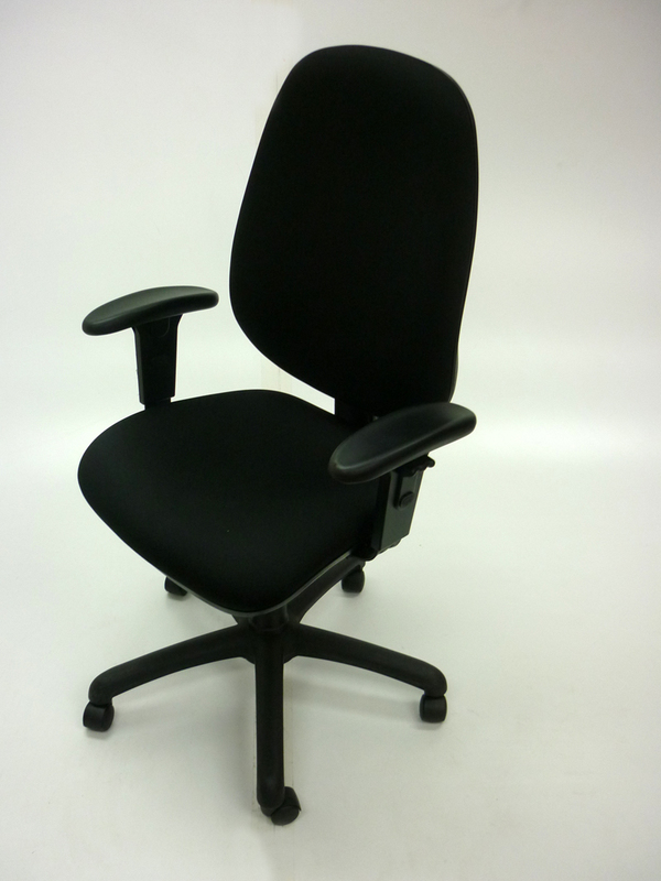 Black Air Seating Touch task chair with arms