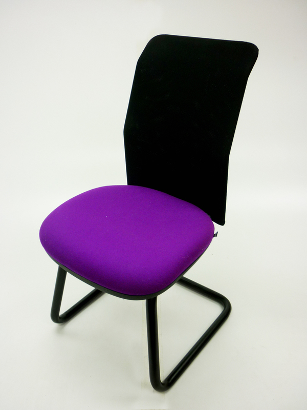 Purple/mesh Pledge AIR meeting chair