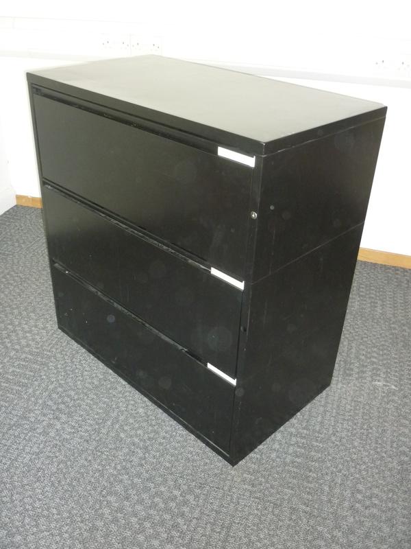 Black 3 drawer side filer