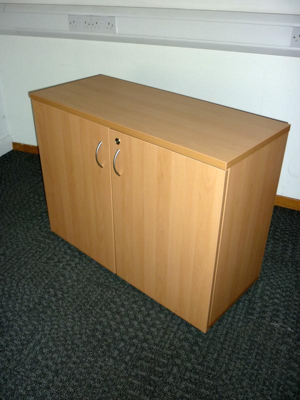 desk high beech cupboard