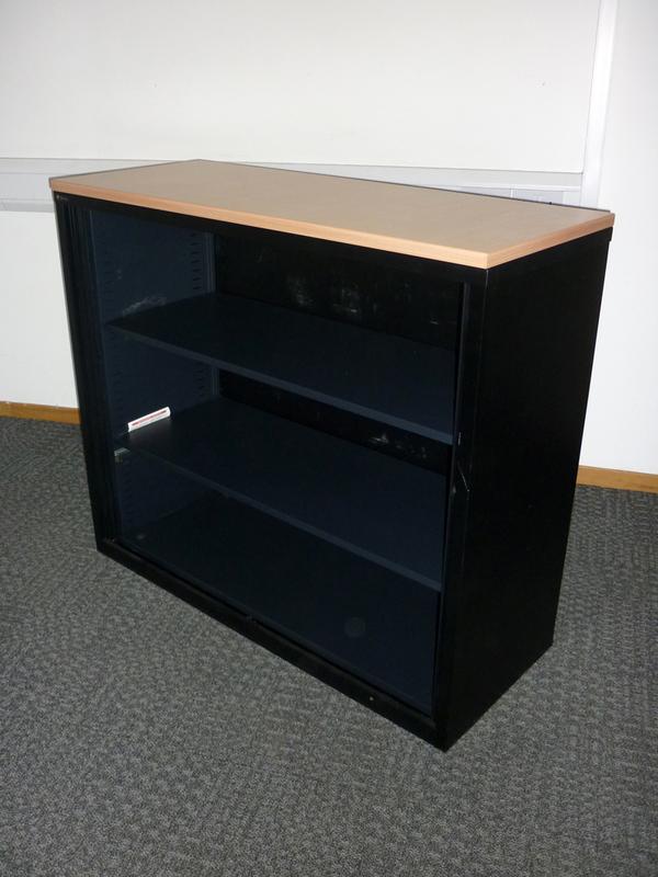 1050mm high black beech Triumph Metrix cupboard