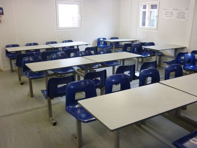 Fixed canteen seating amp tables
