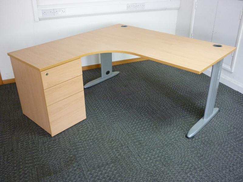 Beech Claremont 1600x1600mm combi desks