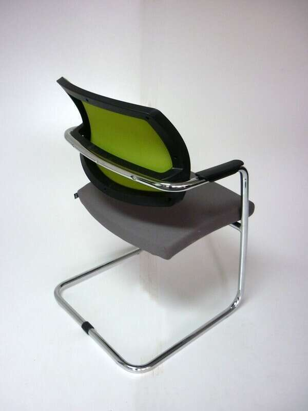 Grey & lime green Sitland mesh meeting chairs
