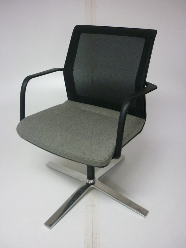 Orangebox greymesh back Workday swivel meeting chair