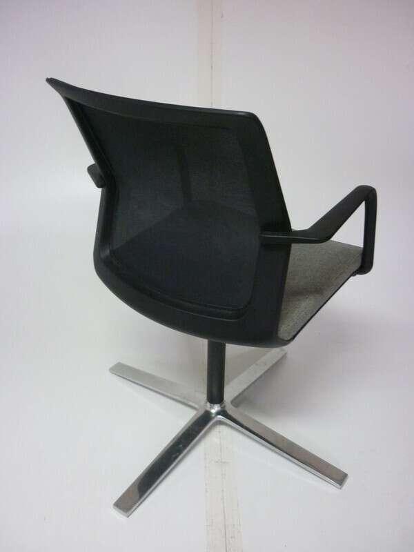 Orangebox Workday grey/mesh back swivel meeting chair