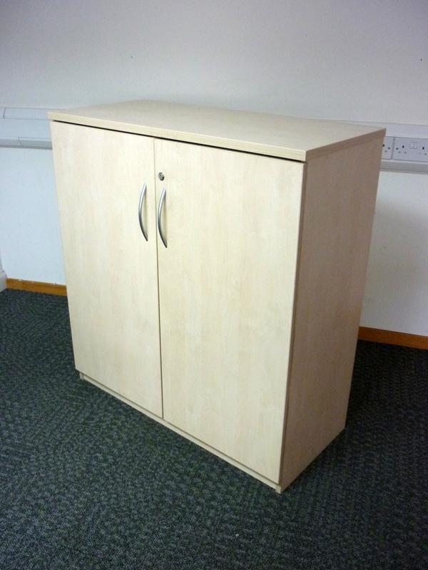 1080mm high maple double door cupboard
