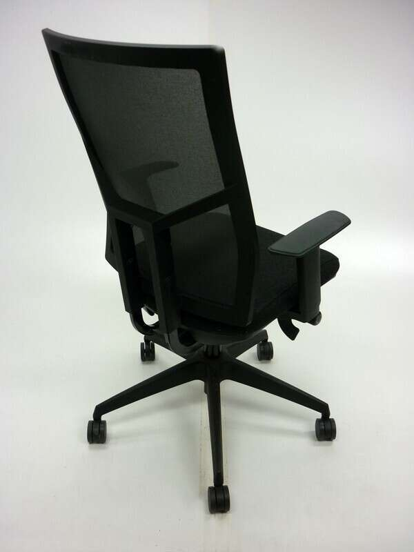 OCEE Design Airo charcoal/black mesh task chair
