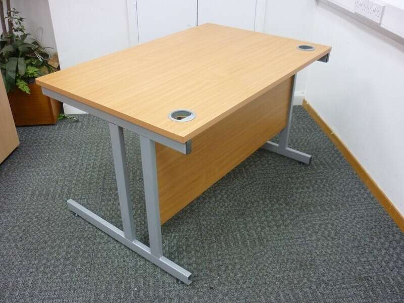 1200x800mm beech Gresham desks