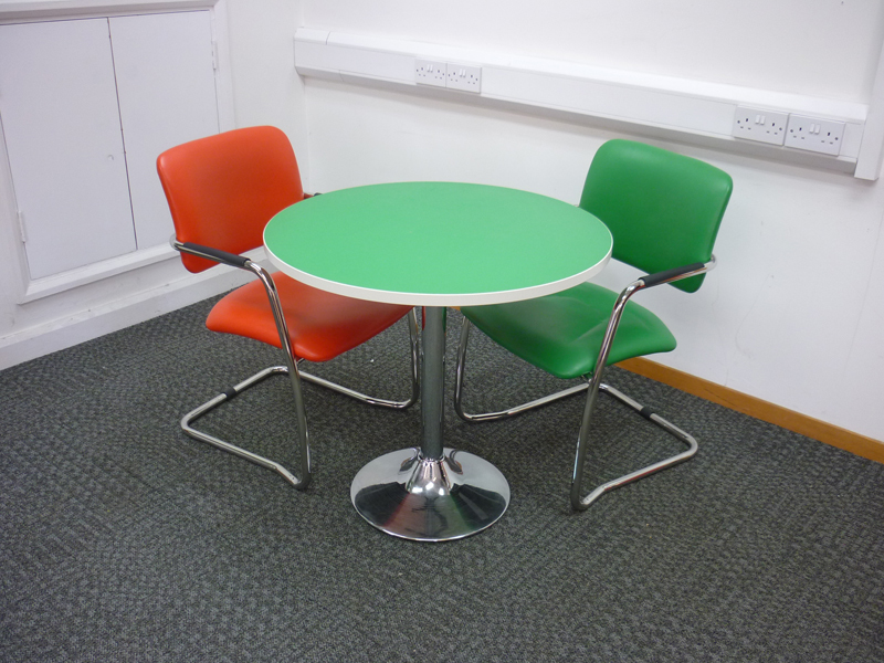 Coloured cafe table