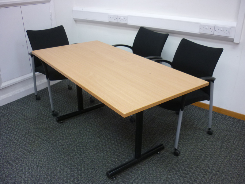 1500x750mm beech conference table