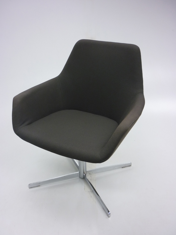 Flecked brown Hitch Mylius HM86 breakout chairs