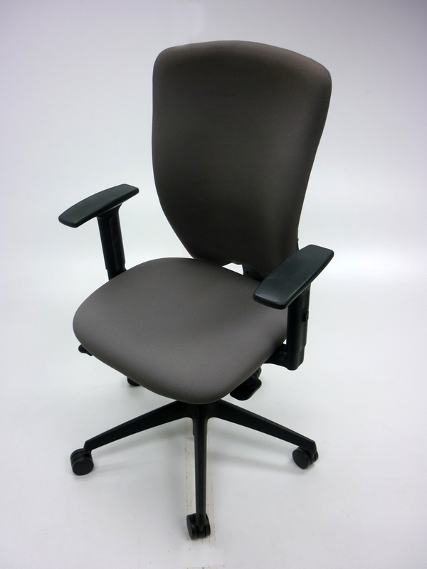 Light grey Komac Move task chairs