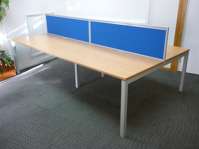 Senator beech 1400x800mm bench desks