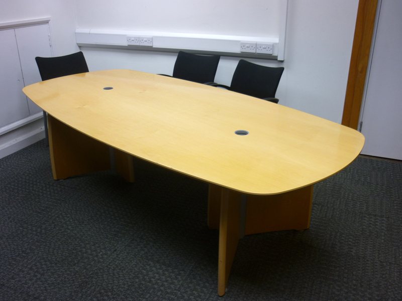 2500 X 1200mm Verco Intuition maple boardroom table