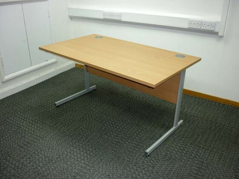 Senator beech 1400x800mm bench desks, per user -