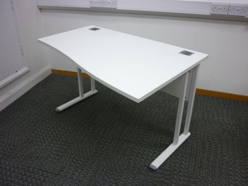 1200x 800600mm white compact wave desks