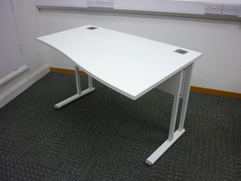 1200x 800600mm white compact wave desks